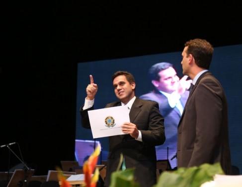 Diplomação do prefeito eleito, Rafael Diniz