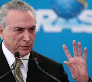 O presidentes Miche Temer falou sobre afastamento de ministro ontem