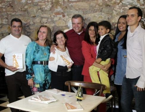 Wallace Andrade e seus familiares