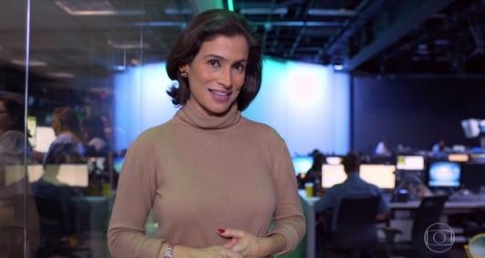 Renata Vasconcellos mostra parte da nova redação