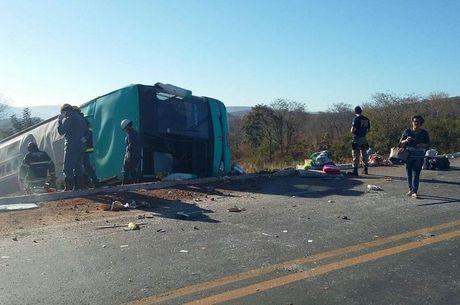Dez passageiros morreram no acidente em Minas Gerais