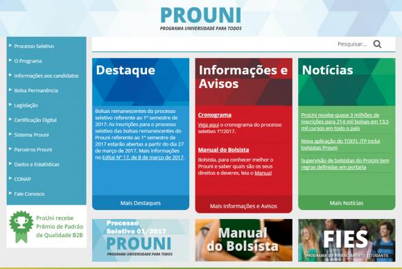 Site do ProUni