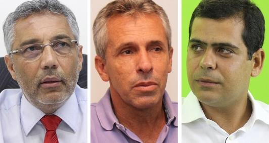 Deputados Geraldo Pudim, Gil Vianna e Bruno Dauaire