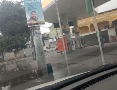 Alagamento na rua rua do Ipiranga