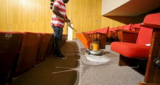 Limpeza no Trianon