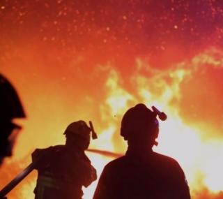 Incêndio na França