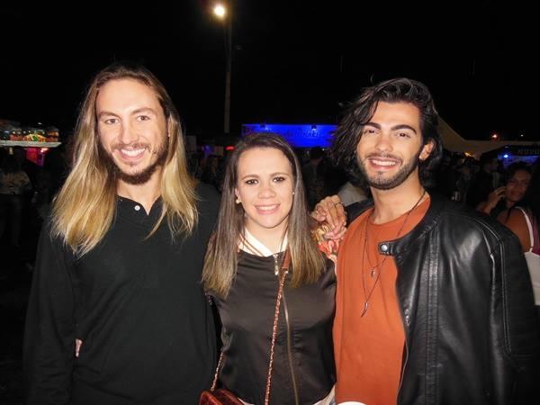 Thiago Augusto, Yanna Thécia e Nathã Fernandes.
