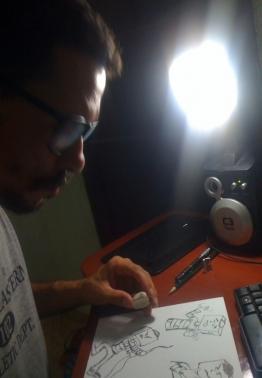 Cássio realiza desenho