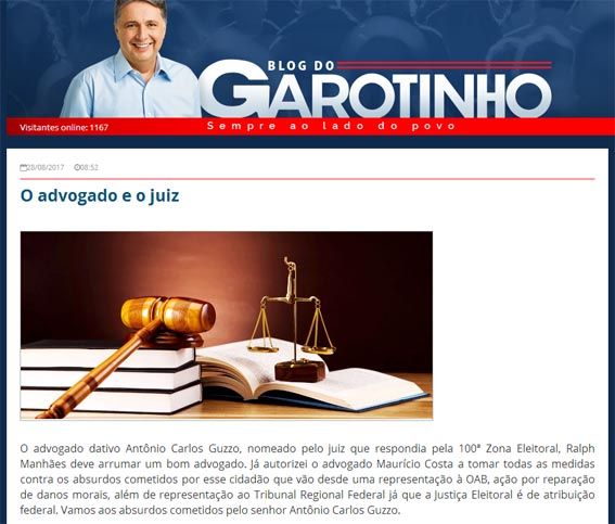 Garotinho usa seu blog como uma arma, mas a vítima poderá ser ele