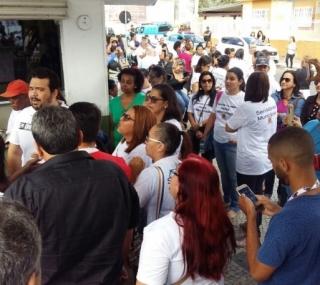 Manifestação na PMCG