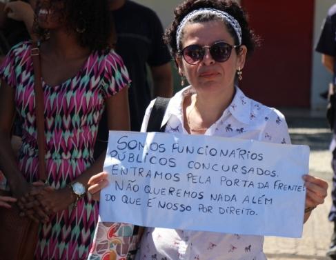 Servidores da educação retomaram os protestos