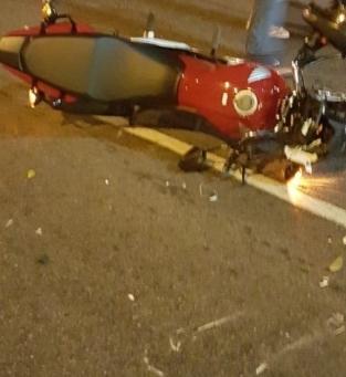Motociclista ferido em acidente na 28 de Março