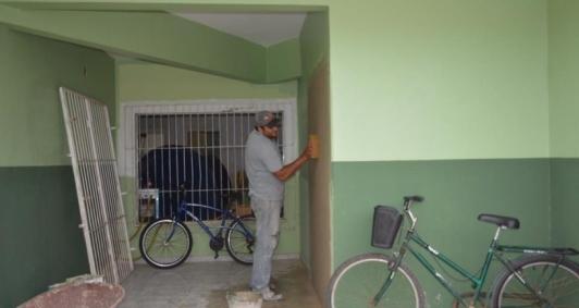 Obras no posto de saúde do Carrapicho