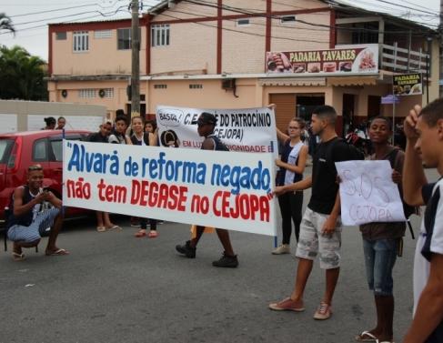 Manifestação no Cejopa