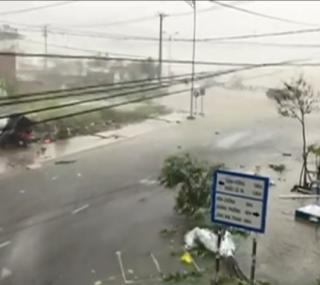 Tufão deixou mortos e dezenas de desaparecidos