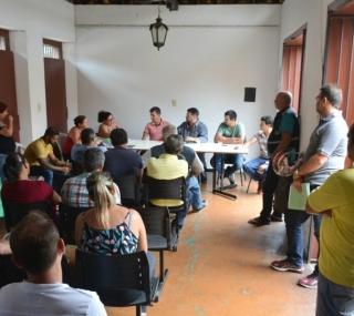 Reunião entre ambulantes e gestores