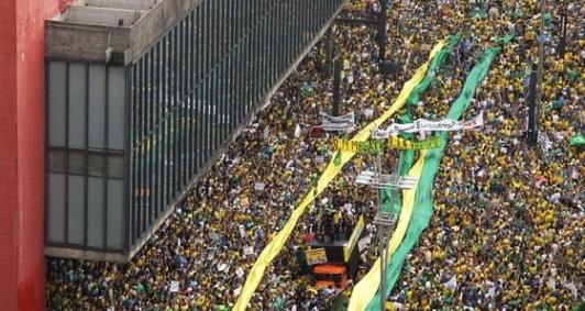 Protesto contra o governo Dilma