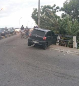 Colisão na ponte da Lapa após fuga