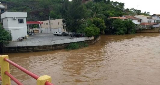 Rio Muriaé apresenta riscos de transbordo