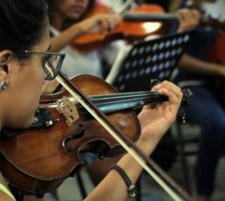 Aulas de violino têm a preferência dos alunos