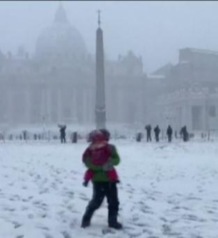 Nevasca em Roma