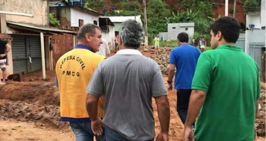 Prefeito vai a Morro do Coco junto a Defesa Civil
