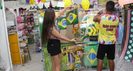Vendas de produtos para a Copa do Mundo