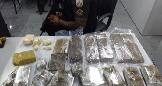 Homem preso com 11 kg de drogas no Parque Julião Nogueira