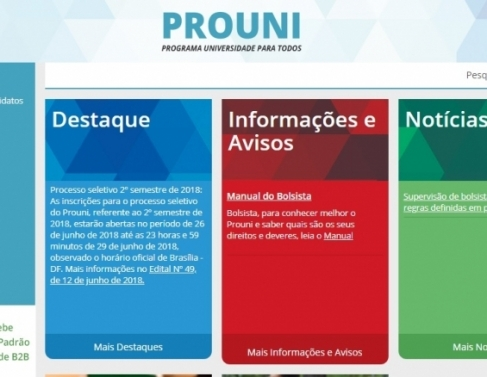 Site oficial do ProUni