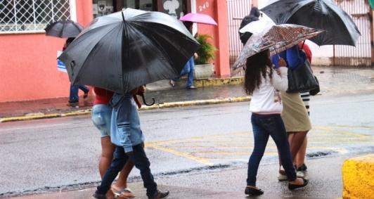 Tempo chuvoso em Campos
