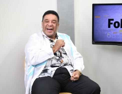 Agnaldo Timóteo no telejornal Folha 1