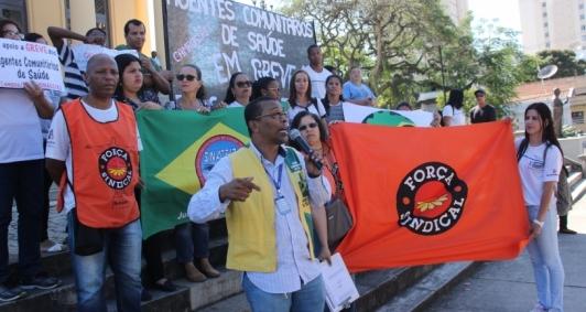 Protesto de agentes da saúde