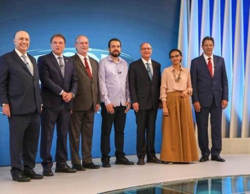 Henrique Meirelles, Alvaro Dias, Ciro Gomes, Guilherme Boulos, Geraldo Alckmin, Marina Silva e Fernando Haddad