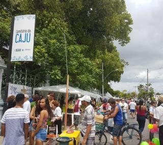 Centenas de pessoas foram ao Caju pela manhã