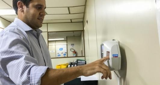 Cadastro do ponto biométrico (Foto: Supcom)