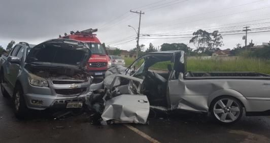 Acidente aconteceu em Mineiros (Foto: Catarine Barreto)