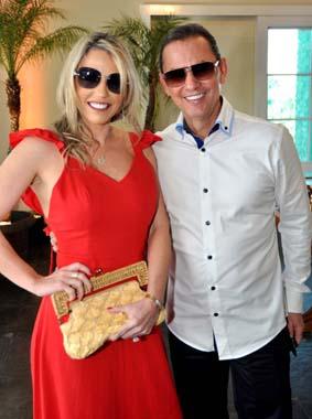 Sandra e o empresário Arthur Marinho