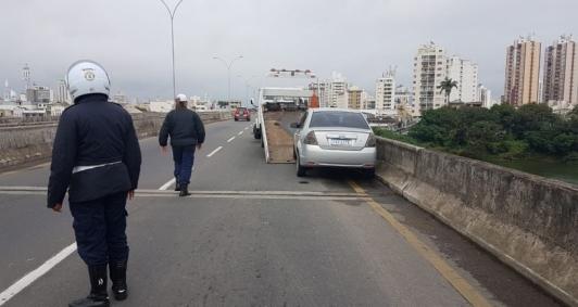 Resgate na ponte Leonel Brizola
