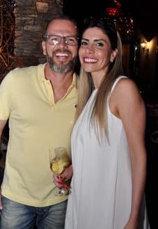 O empresário Thiago Cruz e a delegada Pollyana Henriques