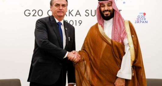 Presidente Jair Bolsonaro durante visita a Ásia e ao Oriente Médio