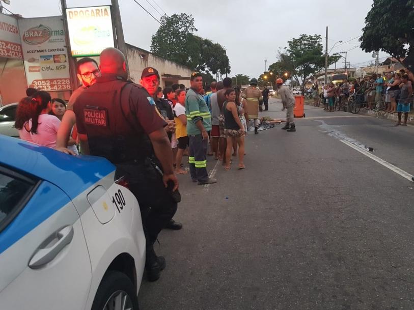 Criança morre atropelada por caminhão no Jóquei