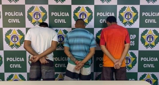 Presos foram levados para a 134ª Delegacia de Polícia