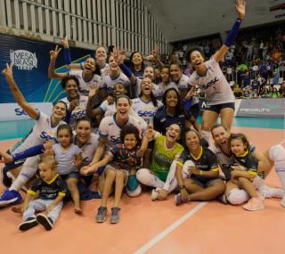 Equipe é líder da Superliga e atual tricampeã estadual