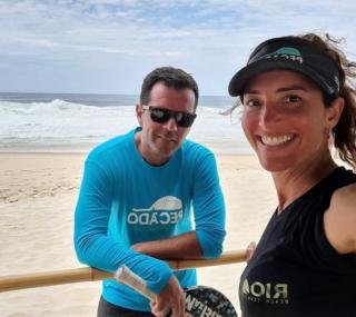 Michelle Figueiredo e Márcio Cavaleiro formarão dupla na competição mista