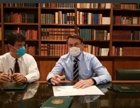 Ministro de Saúde e Presidente em live sobre coronavírus