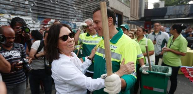 João Dória encontra Regina Duarte na Avenida Paulista em varrição midiática. Exemplos de