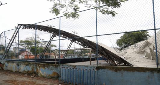 Cobertura desaba (Foto: Rodrigo Silveira)