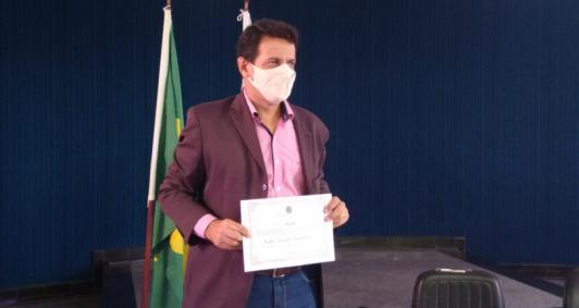 Diplomação de Fábio Ribeiro (Foto: Aldir Sales)