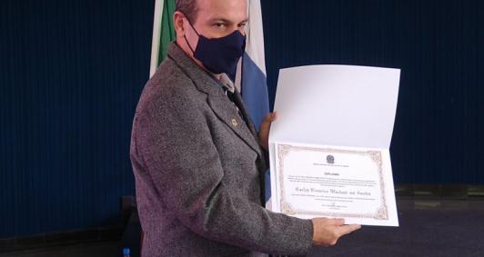 Diplomação de Fred Machado (Foto: Aldir Sales)