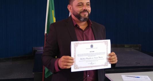 Diplomação de Juninho Virgílio (Foto: Aldir Sales)